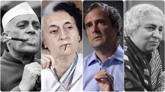 Netizens point out the shameless nepotism of the Congress party as it pays tribute to Vijaya Lakshmi Pandit for being first Indian woman to hold a cabinet post pre-Independent India