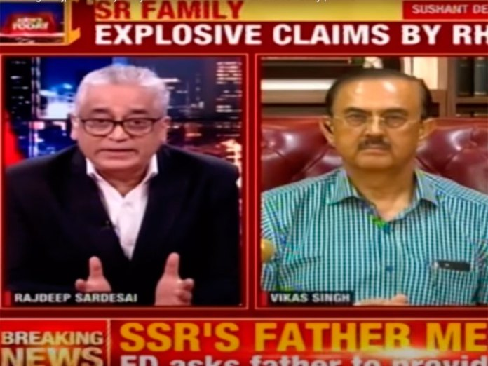 Rajdeep Sardesai gets a befitting reply by Vikas Singh, the lawyer representing Sushant's family