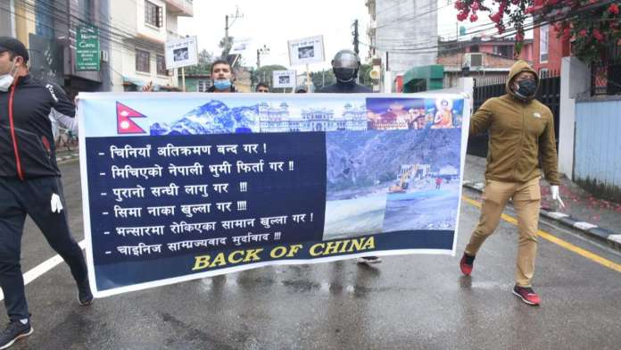 Protests erupt outside Chinese embassy in Nepal