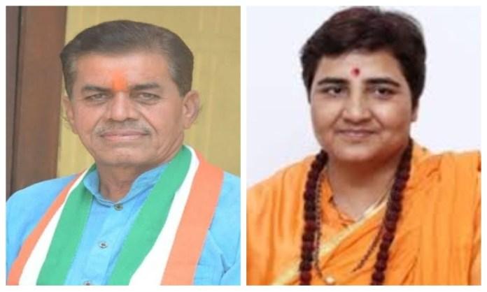 Congress MLA Govardhan Dangi-Sadhvi Pragya