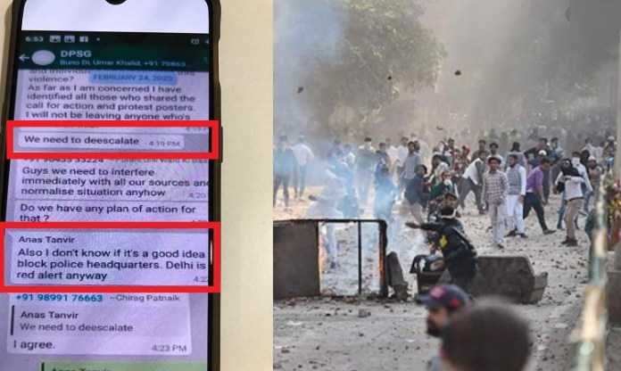 WhatsApp chats acquired show Delhi Riots were planned
