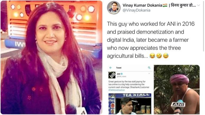 Smita Prakash slams netizens who claimed ANI interviewed same person for demonetisation and farm bills