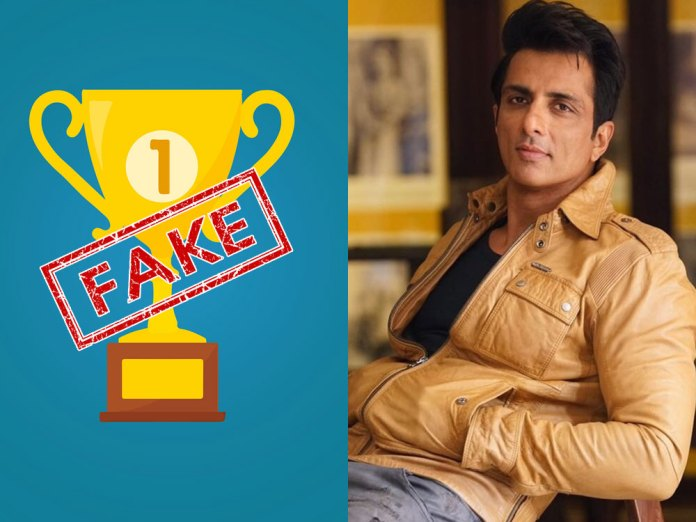 Sonu Sood awarded by UNDP? A fact-check