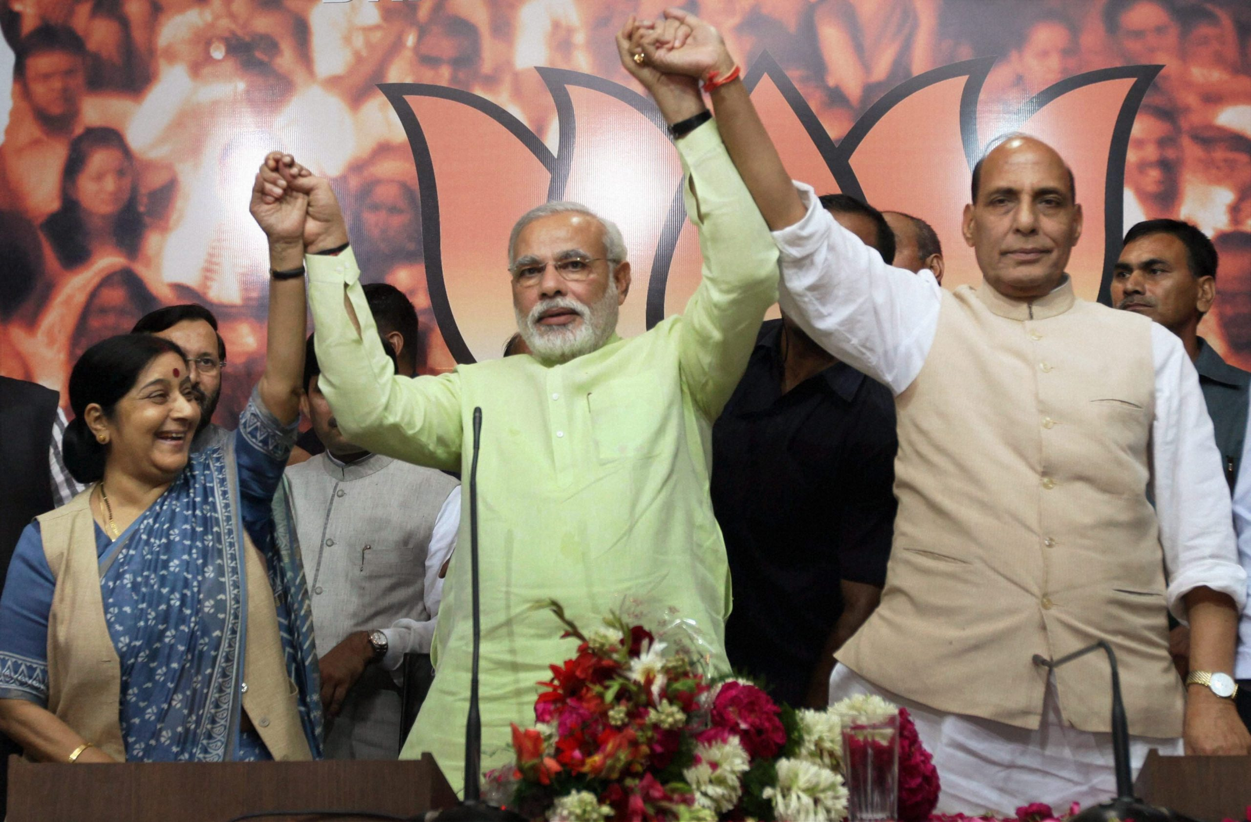 On 13 September 2013, BJP announced Narendra Modi as its Prime Ministerial  candidate. I never thought he would win