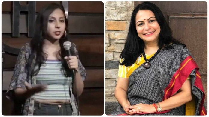 Agrima Joshua makes a sexually suggestive comment on Shefali Vaidya, later deletes her tweet