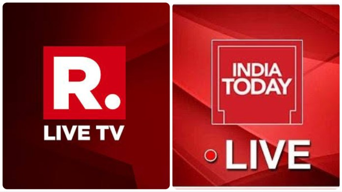 Republic TV views on YouTube outnumber India Today views by several thousand