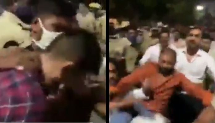Congress goons attack ANI journalist in Telangana during protest rally