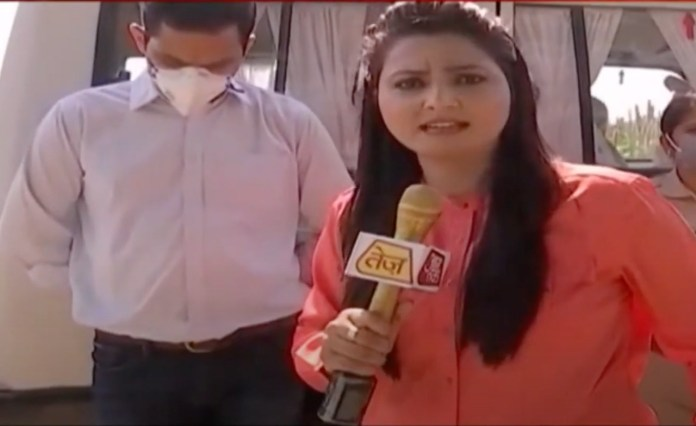 Aaj Tak journalist who heckled Hathras SDM tests positive for coronavirus