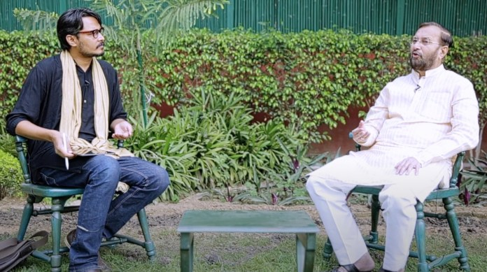 Union Minister Prakash Javadekar gave an exclusive interview to OpIndia