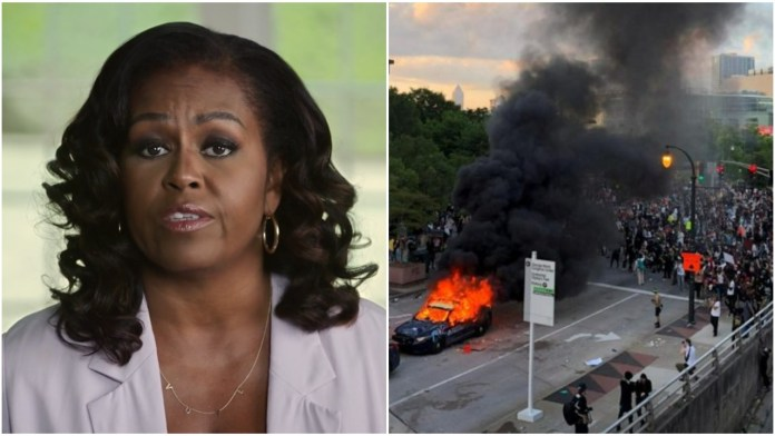Michelle Obama says riots and arson on the streets of USA were only a tiny fraction of peaceful protests