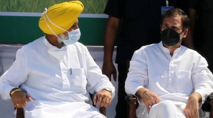 Rahul Gandhi with Balbir Singh Sidhu