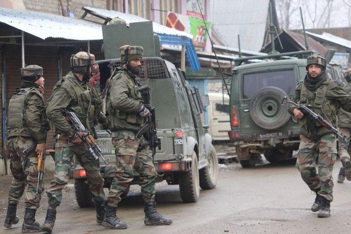 terrorists killed in encounter in Pulwama