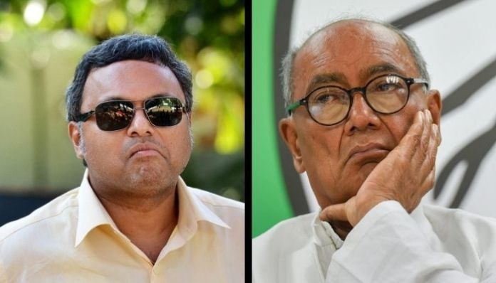 Karti Chidambaram and Digivijaya Singh at loggerheads over EVM hack theory