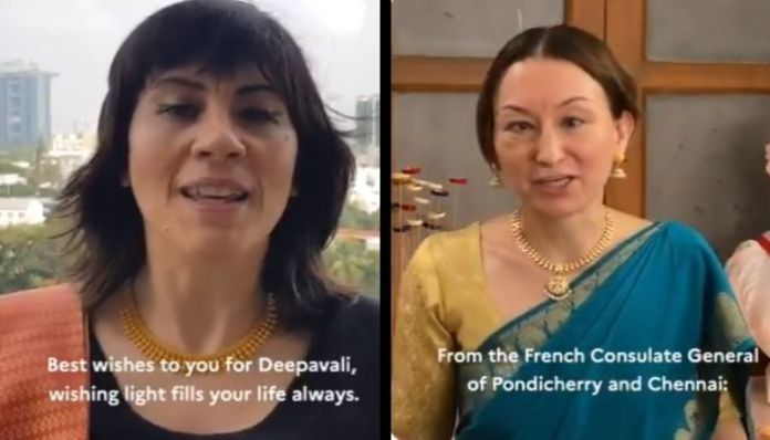 French embassy wishes Diwali in several regional languages. Watch video