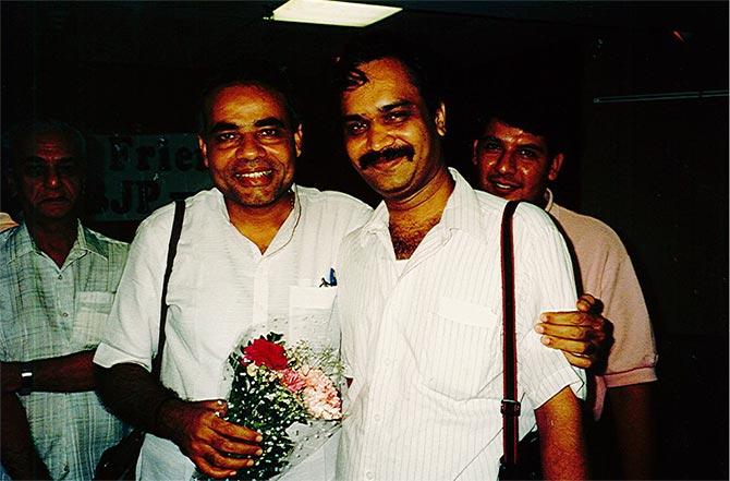 Father of Amit Jani (Joe Biden Campaign Staffer) with Narendra Modi