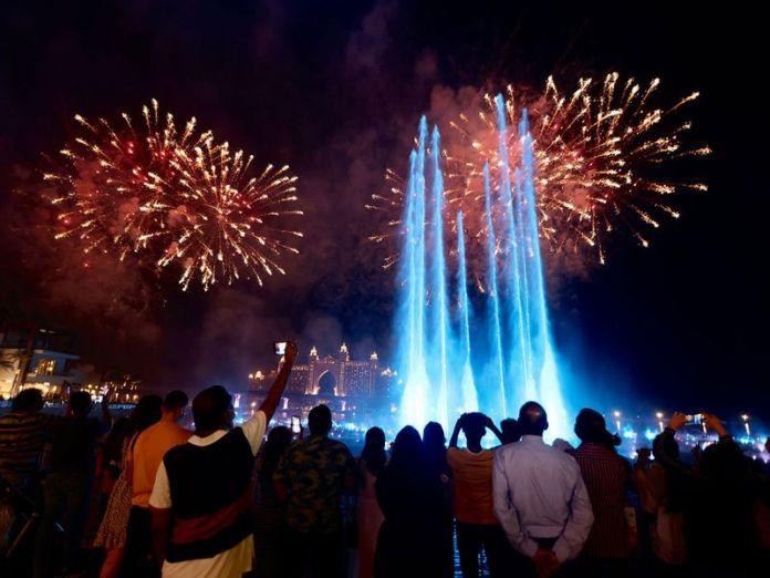 Diwali in Dubai with firecrackers