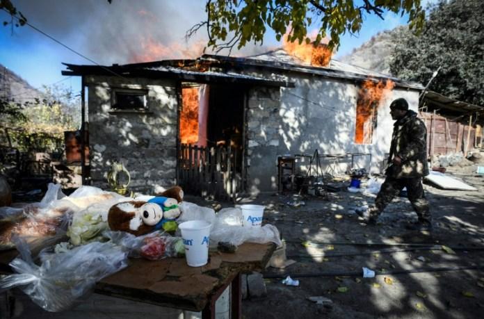 Armenia-Azerbaijan conflict: Ethnic Armenians burn down own homes before fleeing