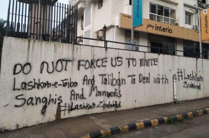 'Lashkar Zindabad': Mangaluru sees graffiti threatening to take LeT and Taliban's help to eliminate 'Sanghis' and 'Manuvadis'