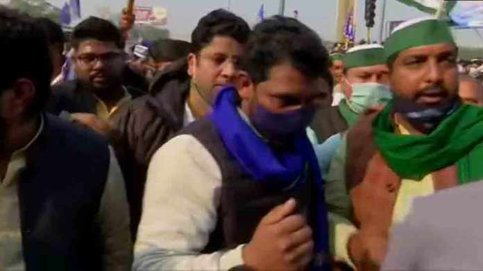 Bhim army chief Chandra Shekhar Azad joins farmers protest