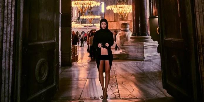 Marisa papen at Hagia Sophia