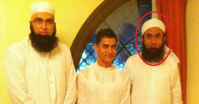 Maulana tariq Jameel with Aamir Khan