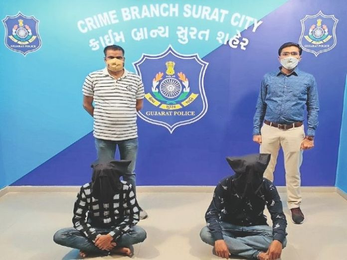 Robbers Haneef and Osaf of the Mewati gang arrested for robbing Canara Bank ATMs
