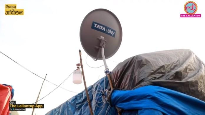 tata sky farmer protests