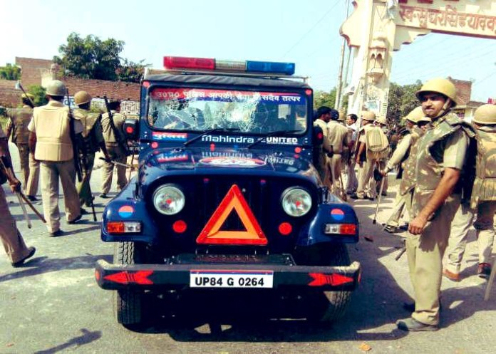 UP Police vehicle