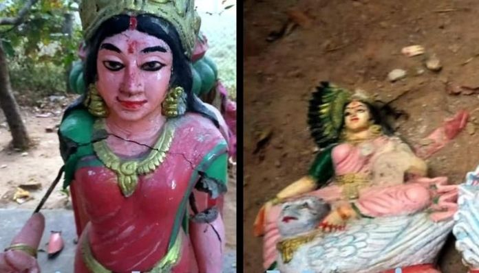 Temple found desecrated, idols vandalised in Muniguda, Odisha