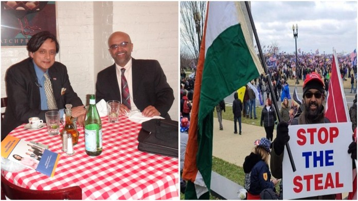Was the man waving the Indian flag at Capitol Hill a 'Hindu supremacist' as claimed by 'liberals'?