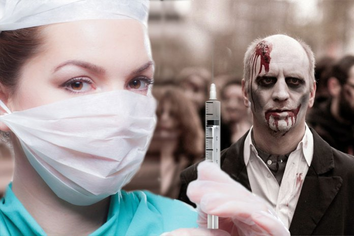No, nobody is turning into man-eating zombie after taking COVID Vaccine