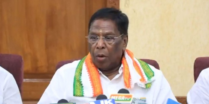 Congress government in Puducherry collapses as CM Narayasamy loses floor test