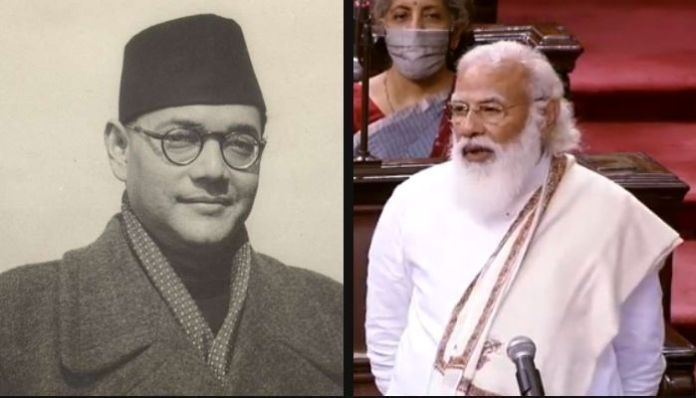 PM Modi refers to Netaji Subhas Chandra Bose as India's first PM Modi
