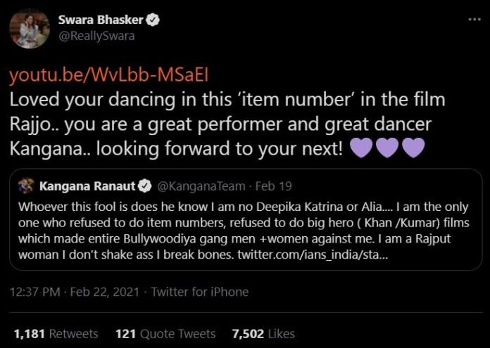 Swara Bhasker vs Kangana Ranaut