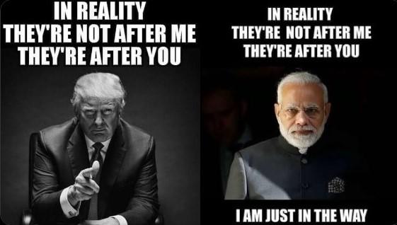Did the Donald Trump meme come first or Modi's?