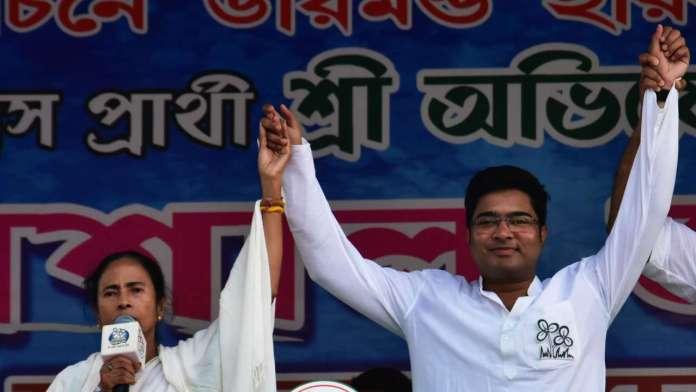 Mamata Banerjee with Abhishek Banerjee