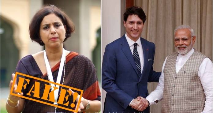 The Hindu's Suhasini Haider spreads misinformation about Modi-Trudeau talk