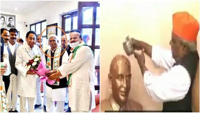 Godse worshipper Hindu Mahasabha leader welcomed into Congress by Kamal Nath