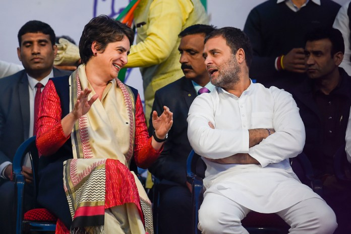 Congress supporters shower excessive adulation over Gandhi siblings mingling with gareeb Indians