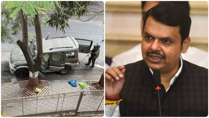 Mumbai Police officer Sachin Vaze was in touch with owner of abandoned car outside Ambani's house, alleges Devendra Fadnavis