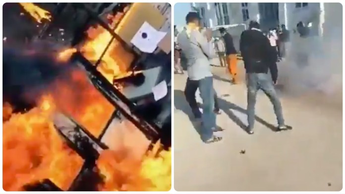 Illegal immigrants in Greece burn down a pre-departure detention facility