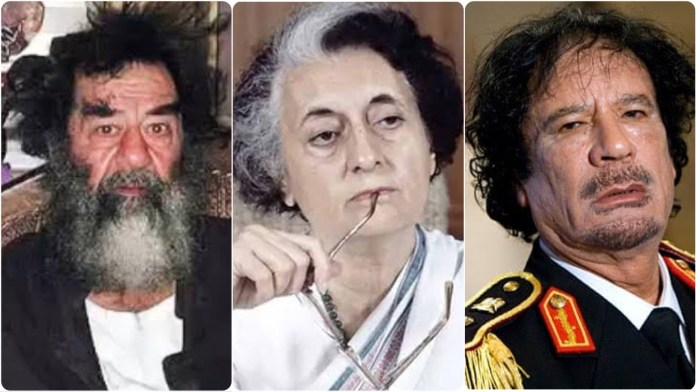 Throwback to the times when Indian PM Indira Gandhi was admired by Saddam Hussein and had gone to visit Muammar Gaddafi