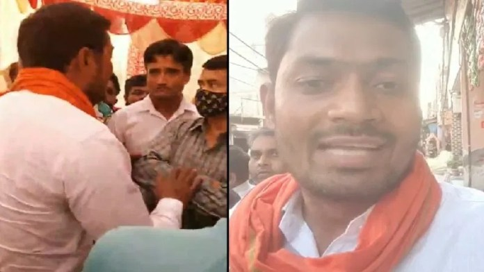 Members of Hindu organisation protest against the nikah of a middle-aged Muslim man with a minor Hindu girl