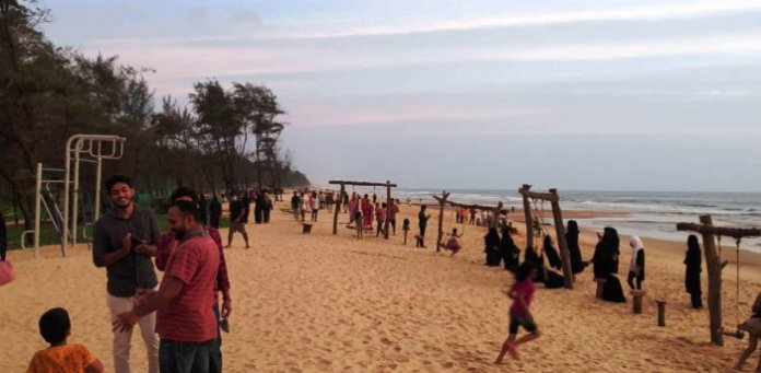 Padubidri Blue Flag beach in Udupi, Karnataka