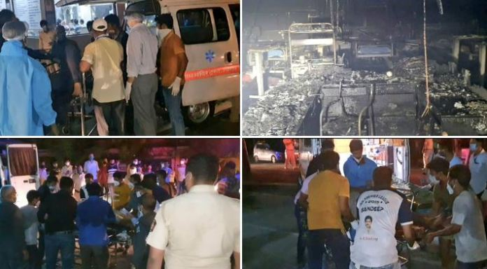 Fire at Vijay Vallabh Covid Care Hospital in Mumbai