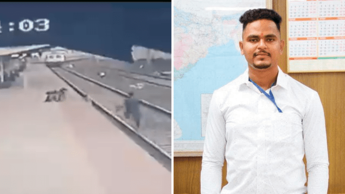 Railway employee donates half his prize money for the family of the child he had saved