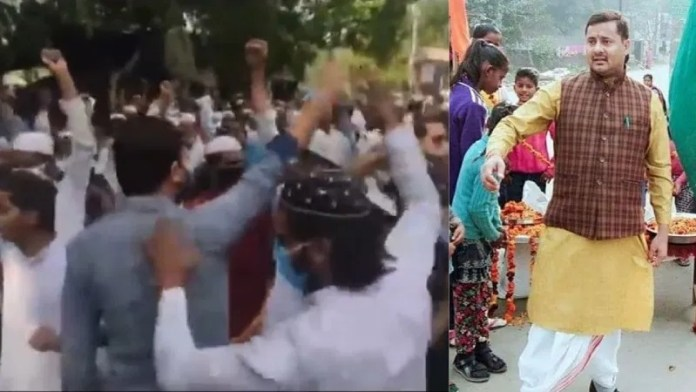 Group of Hindus come unite to respond to threats issued by a Muslim mob against Dasna Devi Temple head priest Yati Narsinghanand Saraswati