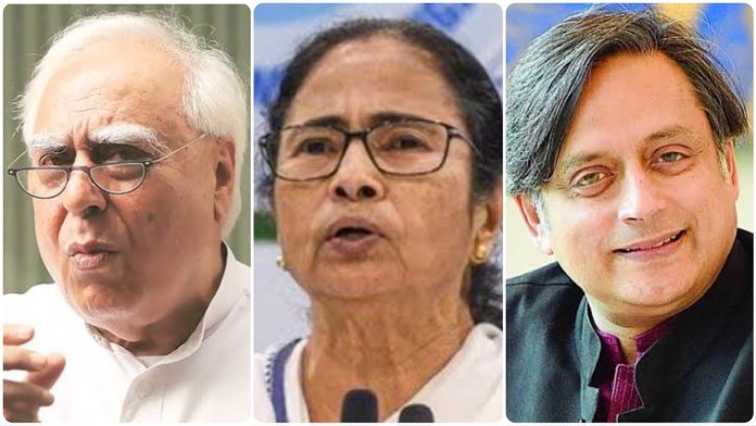 Kapil Sibal and Shashi Tharoor showers praises on Mamata Banerjee even as TMC goons assault Congress workers and vandalise their houses