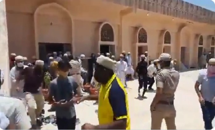 Rajatshan: A large number of people had gathered in a mosque for Eid Namaz despite lockdown orders