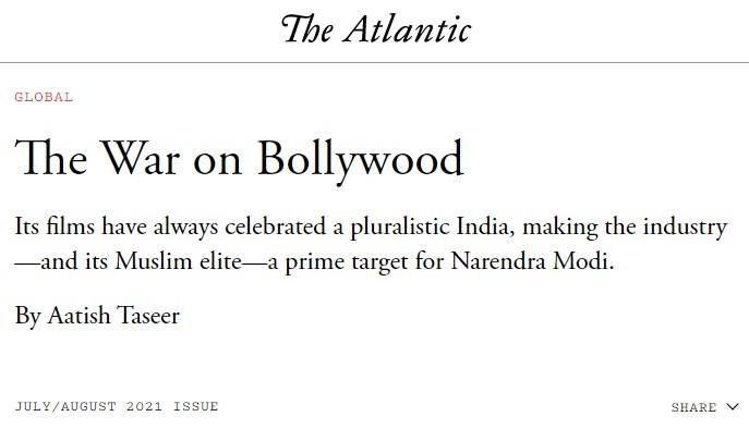 The article by Aatish Taseer